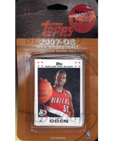 2007/08 Topps Basketball Rookie Card Set - 12ct Lot