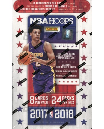 2017/18 Panini NBA Hoops Basketball Hobby 20 Box Case