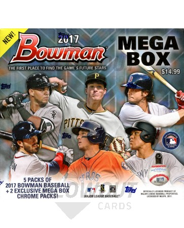 2017 Bowman Mega Box Baseball - 16 Box Case