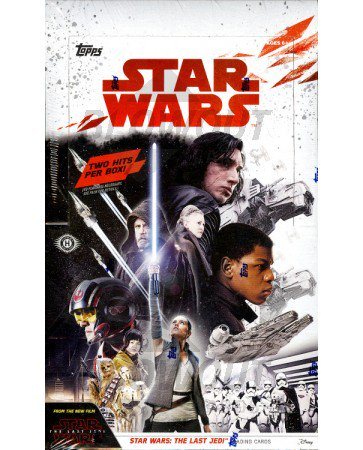 2017 Topps Star Wars The Last Jedi Hobby 12 Box Case