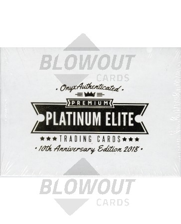 2018 Onyx Premium Platinum Elite Baseball 24 Box Case