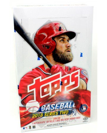 301f3788c36 2018 Topps Series 2 Baseball Hobby 12 Box Case + 12 Silver Packs