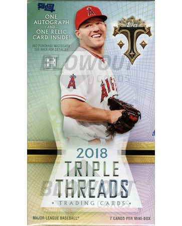2018 Topps Triple Threads Baseball Hobby Pack