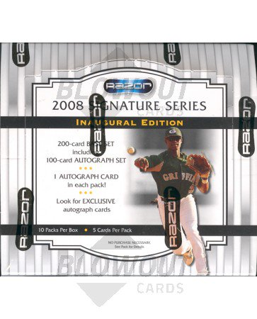 2008 Razor Signature Series Baseball Box