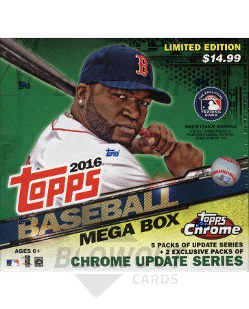 2016 Topps Chrome Update Baseball Mega Box