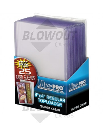 Ultra Pro 3x4 Regular Topload Card Holder w/Sleeves - 25ct Pack