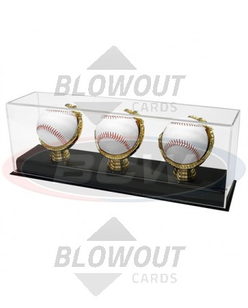 BCW Deluxe Acrylic Gold Glove Trip Baseball Display Acrylic Base