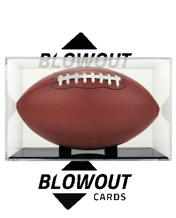 BallQube Grandstand Football Display with Black Base