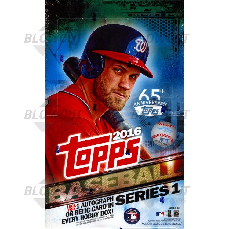4d0e30813bb 2016 Topps Series 1 Baseball Hobby 12 Box Case. Zoom