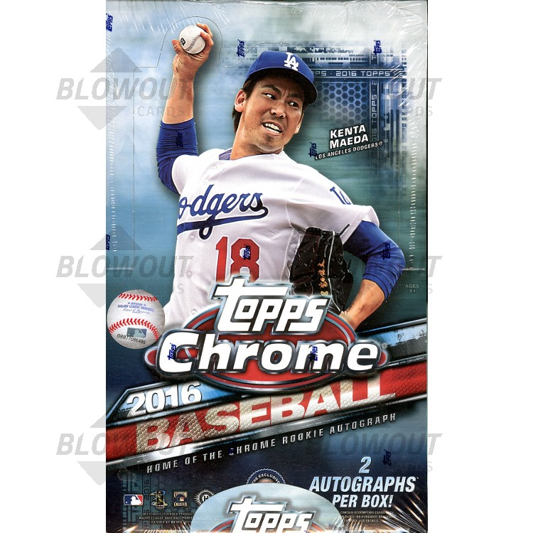 2016 Topps Chrome Baseball Hobby 12 Box Case