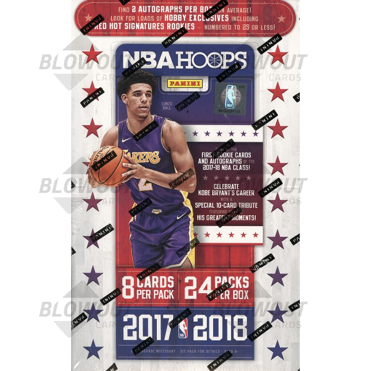 201718 Panini Nba Hoops Basketball Hobby Box