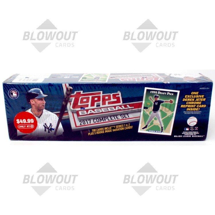 2017 Topps Complete Baseball Factory Set Derek Jeter Chrome Ed