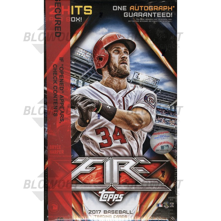 2017 Topps Fire Baseball Collector Box