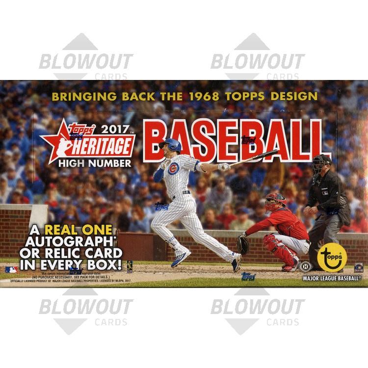 2017 Topps Heritage High Number Baseball Hobby 12 Box Case