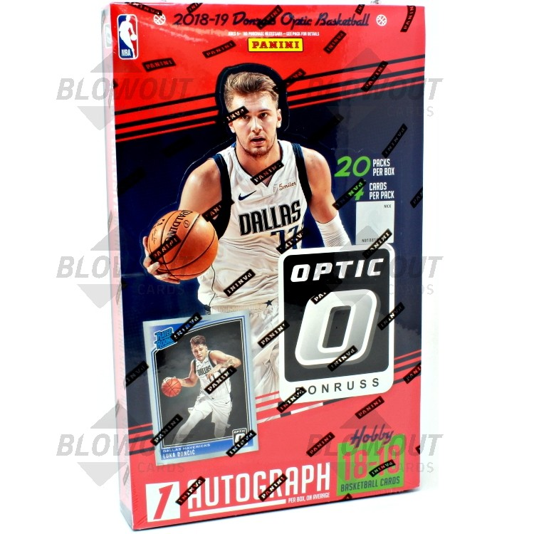 2018 19 Panini Nba Hoops Basketball Hobby Box: 2018/19 Panini Donruss Optic Basketball Hobby 12 Box Case