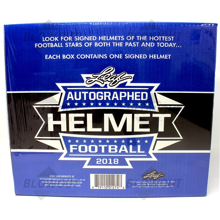 3a91b38db18 2018 Leaf Autographed Full Sized Helmet Football Box · Zoom