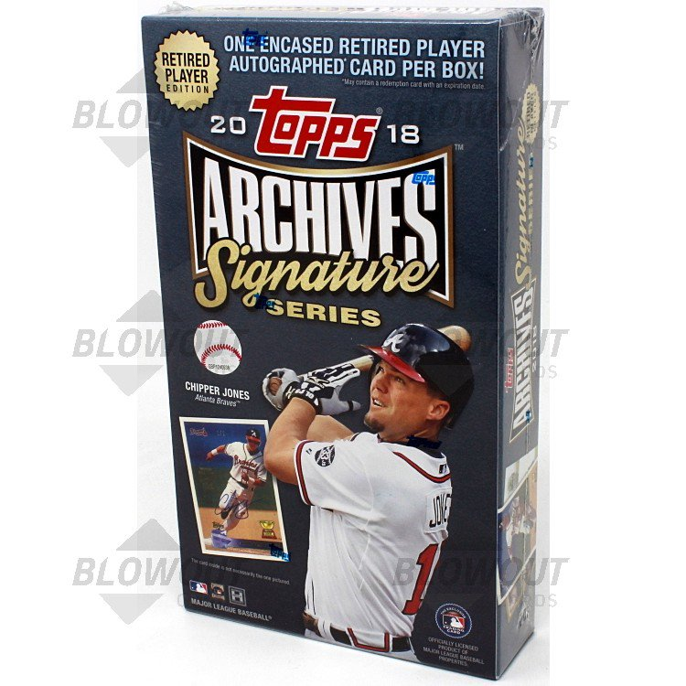 5 2018 Topps Archives Signature Series Retired Edition Factory Sealed HOBBY Box