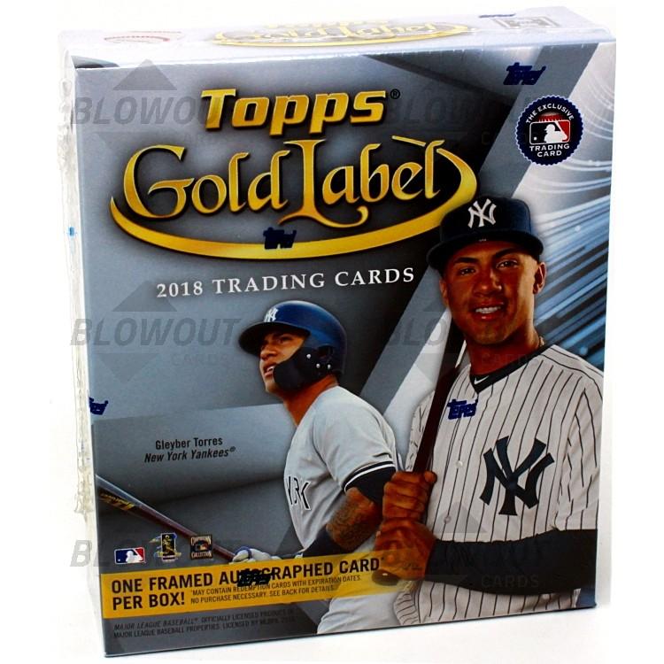 9bc7b442c09 2018 Topps Gold Label Baseball Hobby 16 Box Case