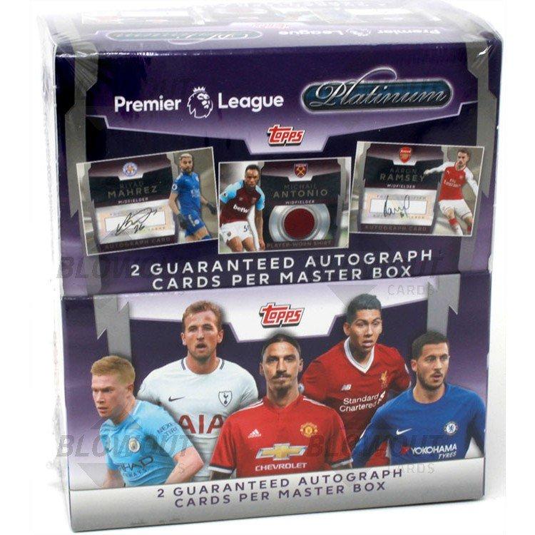 Premier League 2018 19 Live: 2018 Topps Platinum Premier League Soccer Box