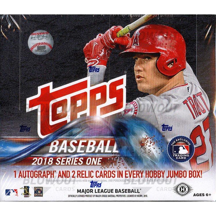 786e83175d0 2018 Topps Series 1 Baseball Jumbo 6 Box Case + 12 Silver Packs