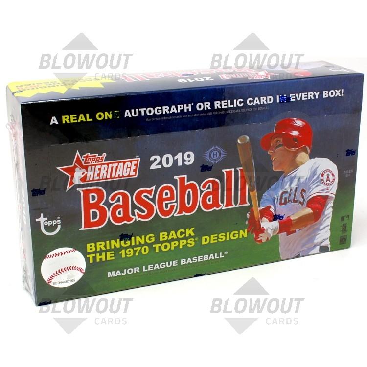 0669c5376ac 2019 Topps Heritage Baseball Hobby 12 Box Case