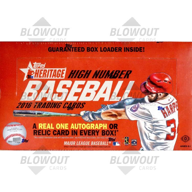 af0cd8ce514 2016 Topps Heritage High Number Baseball Hobby 12 Box Case · Zoom