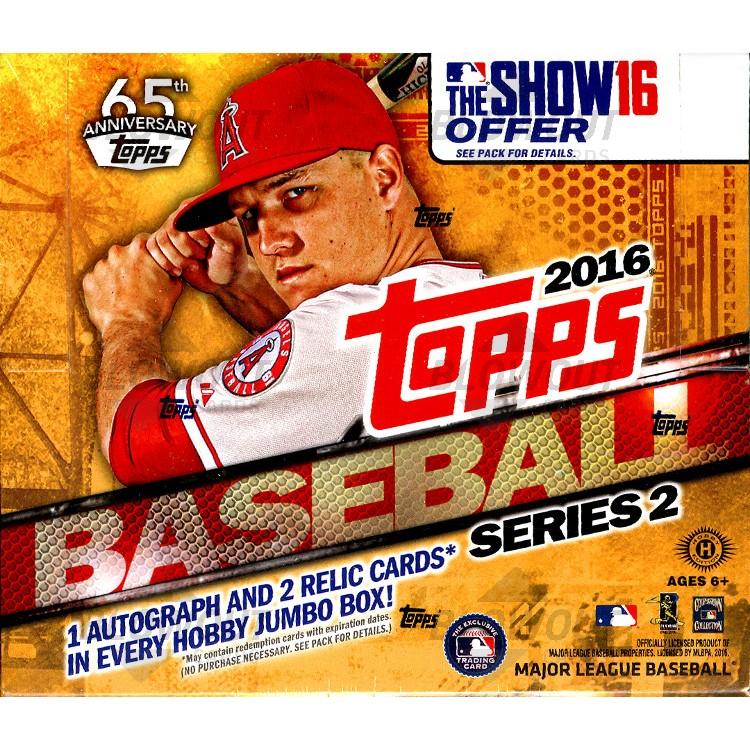 40bd1c88faf 2016 Topps Series 2 Baseball Jumbo HTA 6 Box Case · Zoom