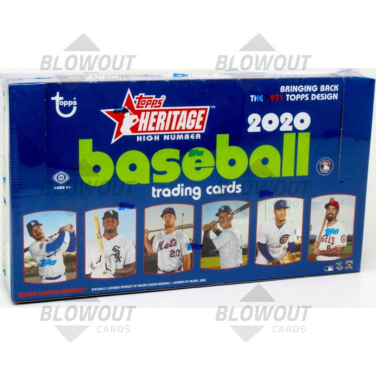 2019 TOPPS HERITAGE HIGH NUMBER BASEBALL HOBBY BOX BLOWOUT CARDS