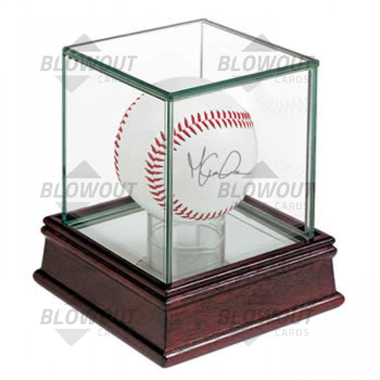 Ultra Pro Baseball Single Ball Holder Woodglass Display 81706