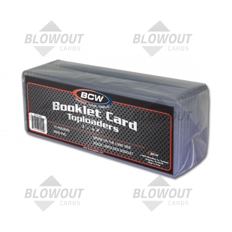 Bcw 7 38x2 12 X 5mm Booklet Card Topload Holder 10ct Pack