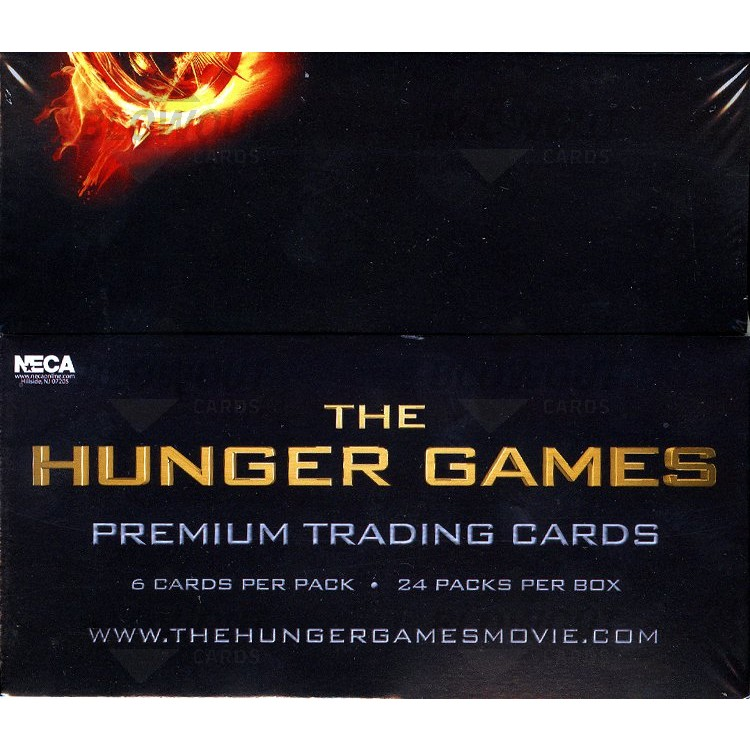 the HUNGER GAMES MOVIE  COMPLETE TRADING CARD BASE SET NECA