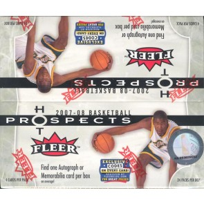 2007/08 Fleer Hot Prospects Basketball Retail 20 Box Case