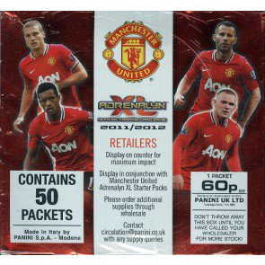 2011/12 Panini Manchester United Soccer Adrenalyn XL Booster Box