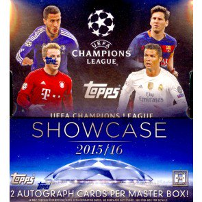 2016 Topps UEFA Champions League Showcase Soccer 8 Box Case