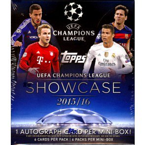 2016 Topps UEFA Champions League Showcase Soccer Mini Box