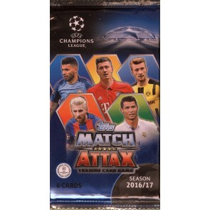 2016/17 Topps UEFA Champ League Match Attax 20 Pack Lot