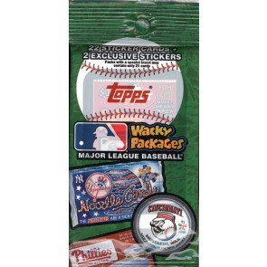 2016 Topps Wacky Packages MLB Stickers Value Rack Pk - 24 Ct Lot