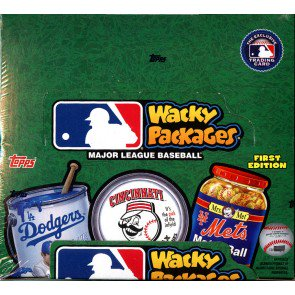 2016 Topps Wacky Packages MLB Stickers Retail Box