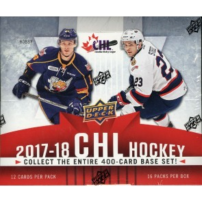 2017/18 Upper Deck CHL Hockey Hobby 20 Box Case