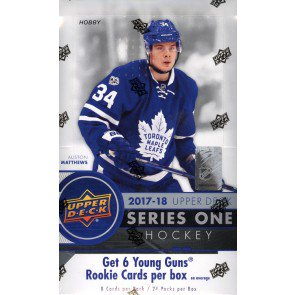 2017/18 Upper Deck Series 1 Hockey Hobby Box