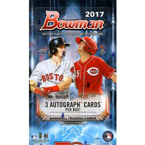 2017 Bowman Baseball Jumbo (HTA) 8 Box Case