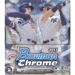 2017 Bowman Chrome Baseball Hobby 12 Box Case