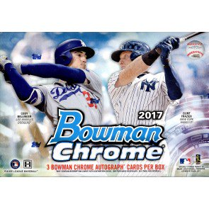 2017 Bowman Chrome Baseball HTA Choice 12 Box Case