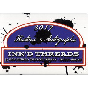 2017 Historic Autographs Inked Threads Jersey Box