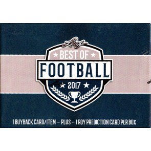 2017 Leaf Best of Football 3 Box Case