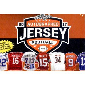 2017 Leaf Autographed Football Jersey Edition 8 Box Case