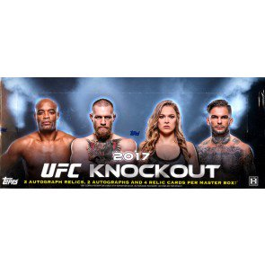 2017 Topps UFC Knockout Hobby 12 Box Case