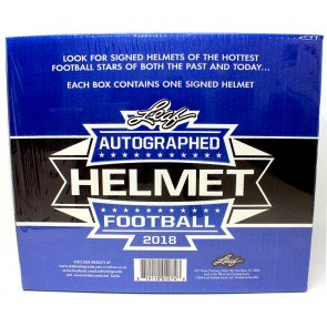 2018 Leaf Autographed Full Sized Helmet Football 3 Box Case