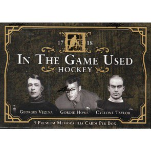 2018 Leaf In The Game (ITG) Game Used Hockey 10 Box Case