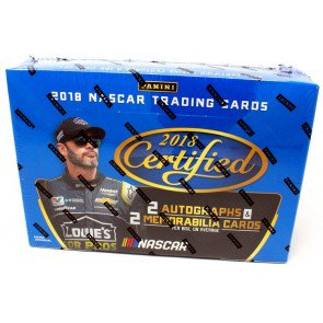 2018 Panini Certified Racing Hobby 12 Box Case